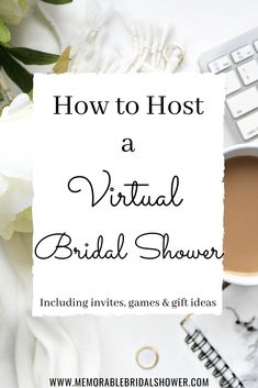 Bachelorette parties 331225747595474260 - How to Host a Virtual Bridal Shower or Bachelorette Party – Memorable Bridal Shower Source by Bridal Shower Checklist, Bridal Shower Questions, Bridal Shower Planning, Printable Bridal Shower Games, Wedding Shower Games, Bridal Shower Party, Bridal Shower Decorations, Bridal Showers, Party Planning