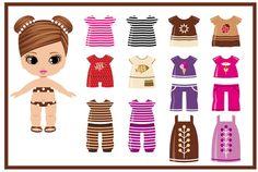 BONECA DE PAPEL - Leila Moraes - Álbuns da web do Picasa Paper Dolls Clothing, Barbie Paper Dolls, Vintage Paper Dolls, Fabric Dolls, Doll Clothes, Circus Activities, Box Template Printable, Walmart Toys, Fabric Crafts