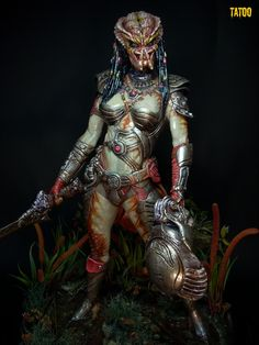 "Predatrix - Hmmm...Based on her helmet, it looks like they've hunted the aliens from ""ID4."""