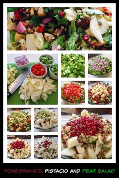 Pear, Pomegranate and Pistachio Salad