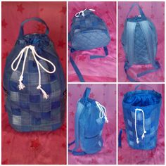 Спортивный рюкзак из джинсов