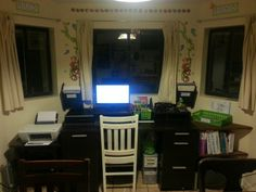 The homeschool computer center and desk