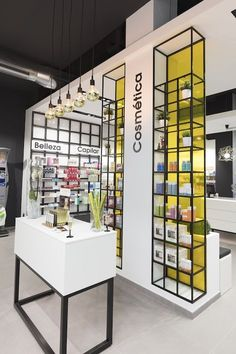 Pharmacy store display store design and shop fitting pharmacy display в Plans Architecture, Architecture Design, Pharmacy Store, Counter Design, Cosmetic Shop, Retail Store Design, Shop Fittings, Store Interiors, Layout