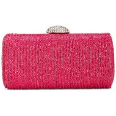 La Regale Beaded Minaudiere ($104) ❤ liked on Polyvore featuring bags, handbags, clutches, pink sapphire, la regale handbags, la regale, pink clutches, pink handbags and beaded handbag