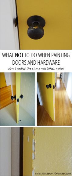 What not to do when painting doors and hardware - don't make the same mistakes I did! - Plaster & Disaster