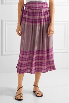 APIECE APART - La Ellisa Printed Voile Skirt - Magenta - US6