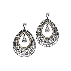 Jardin Pear Crystal Earrings Black up to 70% off | Jewelry | Little Black Bag