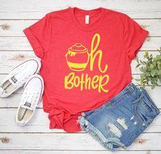 Winnie the Pooh shirt, women's Disney shirt, oh bother shirt, Disney vacation shirt, honey pot shirt Disney Vacation Shirts, Disney Vacations, Diy Disneyland Shirts, Disneyland Outfits, Cute Disney Outfits, Disney Clothes, Cute Disney Shirts, Winnie The Pooh Shirt, Disney Style