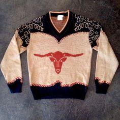 1960s Western Cowboy Sweater