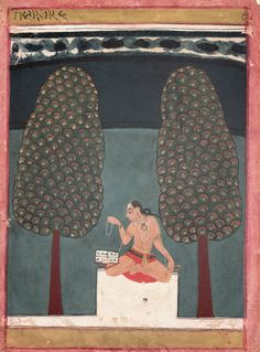 Bangala Ragini, Page from an Illustrated Ragamala Series, Malwa Central India - 17th Century