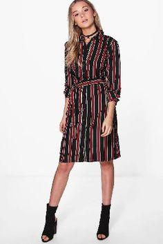 boohoo Striped Print Belted Shirt Dress - black CZZ95929 Drew Striped Print Belted Shirt Dress - black http://www.MightGet.com/march-2017-2/boohoo-striped-print-belted-shirt-dress--black-czz95929.asp