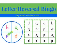 Letter Reversals Bingo I am always looking for ways to help my son and my students practice writing and identifying letters that are commonly reversed correctly. In an earlier post, Games for Let…