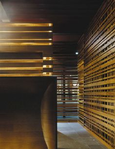 Yabu Pushelberg Wall idea for theater Bar Interior, Interior Walls, Interior Design, Lattice Wall, Palace, Public Space Design, Exterior Cladding, Wall Treatments, Commercial Interiors