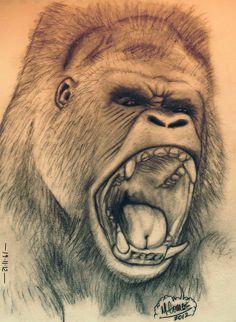 """Gorilla"" Sketch-A-Day from 19-11-2012  © 2012 Mauricio Gomez"