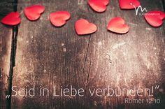"""""""Seid in herzlicher #Liebe #miteinander #verbunden, gegenseitige #Achtung soll euer #Zusammenleben #bestimmen."""" #Römer 12:10 #glaubensimpulse"""