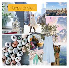 """""""HAPPY EASTER!!"""" by floralbeauteous ❤ liked on Polyvore featuring Crate and Barrel, Baccarat, Eddie Borgo, Pacifica, Urban Outfitters, MM6 Maison Margiela, Shay & Blue, The Volon and Giambattista Valli"""