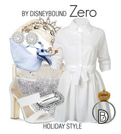 """Zero"" by leslieakay ❤ liked on Polyvore featuring Kenneth Jay Lane, Topshop, Lulu Frost, WithChic, Louise et Cie, Carvela, disney, disneybound and disneycharacter"