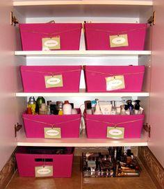 Great way to organize bathroom stuff