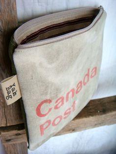 Vintage Canada Post bag repurposed