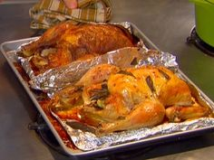 Roasted Chickens Two Ways recipe from Dave Lieberman via Food Network