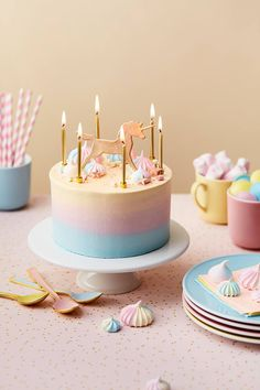 Gorgeous and refined unicorn birthday cake by Peggy Porschen Cakes