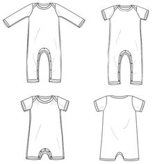 Baby romper sewing pattern pdf // one piece coverall // shorts