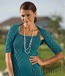 Вязаный комплект: платье и шраг спицами | knitt.net | Все о вязании