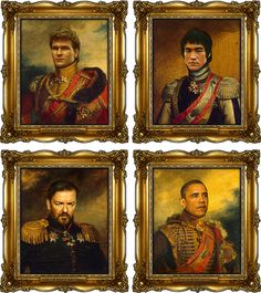 Ricky Gervais, you look good asa  Russian Czar!   Celebrities as Russian Generals by Replaceface (4)
