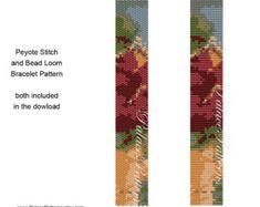Zebra Stripes Peyote Stitch Bracelet Pattern and por PalacePatterns