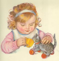 Vintage book illustration by Maud Tousey Fangel 1930s via Hazelruthes's blog
