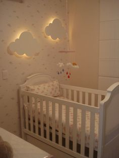 Baby Room: Clouds: ideas and ideas for making other forms of painted plywood .- Bebek Odası: Bulutlar: boyalı kontrplak diğer formları yapmak için fikir ve… Baby Room: Clouds: painted plywood other … - Baby Bedroom, Baby Boy Rooms, Nursery Room, Girl Nursery, Girls Bedroom, Nursery Decor, Nursery Ideas, Bedroom Ideas, Bedroom Themes