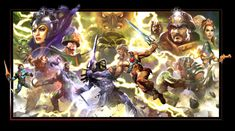 OLD SCHOOL MOTU by Dave-Wilkins - I knew I had seen this before with Evil-Lyn , so the clip that I saved on this board came from these poster.