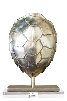 Small Silver Tortoise Finial design by Couture Lamps