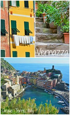 """Vernazza is just one of 5 stunning villages that makes up (""""the 5 Lands"""") Cinque Terre in Italy. Vernazza is amazing and definitely worth a visit, but why visit just one when you can visit five adorable villages just minutes away from each other?!"""