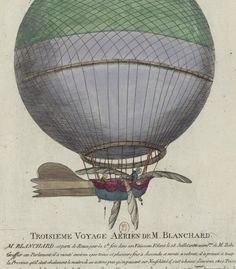 Mr. Blanchard est parti de Rouen dans son Vaisseau Volant 1784 [estampe]