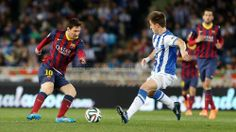 Real Sociedad 1 - 1 FC Barcelona #FCBarcelona #Game #Match #Copa Fc Barcelona, Barcelona Soccer, Messi 10, Lionel Messi, History Of Soccer, Argentina National Team, National Football Teams, Soccer Players, Leo