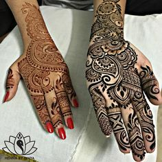 """4,899 Likes, 54 Comments - Divya Patel (@hennabydivya) on Instagram: """"Henna for two lovely friends, Dhviti & Nupur, while I was in India.  The stain was simply…"""""""