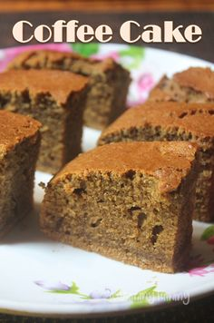 Tea Time Coffee Cake Recipe - Coffee Flavoured Cake Recipe - Delicious coffee flavoured cake which turns out super soft and moist. This makes a perfect tea time - Coffee Flavored Cake Recipe, Eggless Coffee Cake Recipe, Coffee Bread Recipe, Best Cake Recipes, Pound Cake Recipes, Sweet Recipes, Dessert Recipes, Desserts, Tea Time Snacks