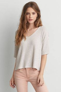 AEO Feather Light Sweater by AEO   Light as a feather. Our latest collection of Feather Light tops is soft, airy