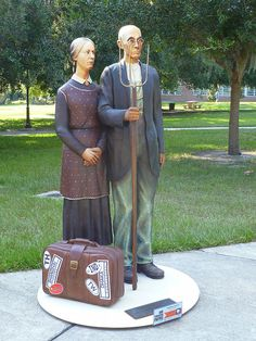 One of the Seward Johnson sculptures, Florida