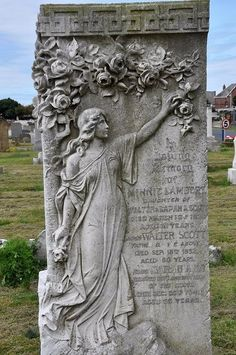 Cemetery statues and carvings Cemetery Monuments, Cemetery Statues, Cemetery Headstones, Old Cemeteries, Cemetery Art, Angel Statues, Graveyards, Unusual Headstones, Gardens Of Stone