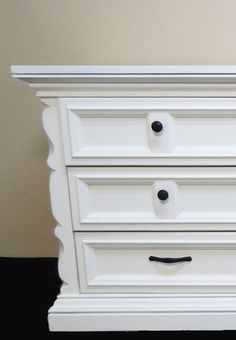 Long Dresser Redo - Before & After pix.  Lots of other furniture makeovers here too.