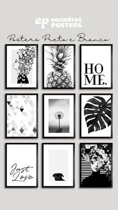Enorme variedade de Posters em preto e branco para você escolher. Milhares de posters e quadros para sua decoração. Acesse agora. Black Frames On Wall, Black And White Wall Art, Diy Wall Decor For Bedroom, Home Decor Wall Art, Batman Gifts, Art Prints For Home, Wallpaper Decor, Gifts For Office, Home Room Design