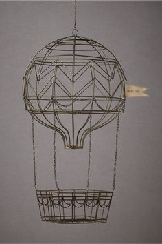 hovering hot air balloon-so sweet for a nursery