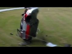 Moment racing car rolls over six times after driver loses control