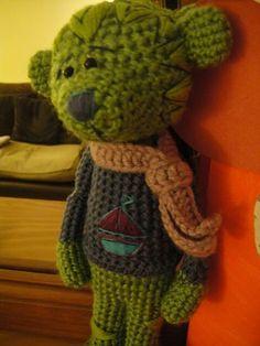 teddy Crochet Teddy, Crochet Bear, Crochet Toys, Dinosaur Stuffed Animal, Teddy Bears, Ideas, Animals, Bears, Animales
