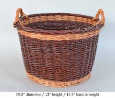 willow laundry basket by Katherine Lewis