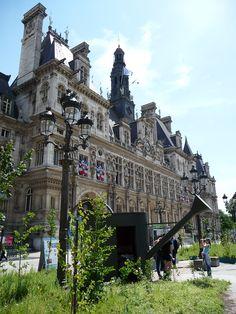 """Jardin éphémère """"Nouveaux paysages de la métropole"""", parvis de l'Hôtel de Ville, Paris"""