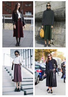 Как носить плиссированные юбки