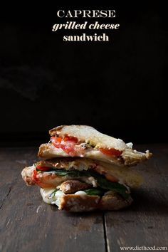 Caprese Grilled Cheese Sandwich | recipe from Diethood